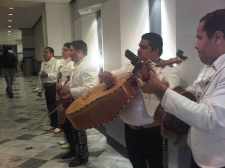 mariachi band at mexican independence day celebration at burguesa burger