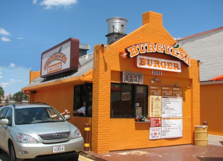 The original Burguesa Burger on Inwood Road in Dallas